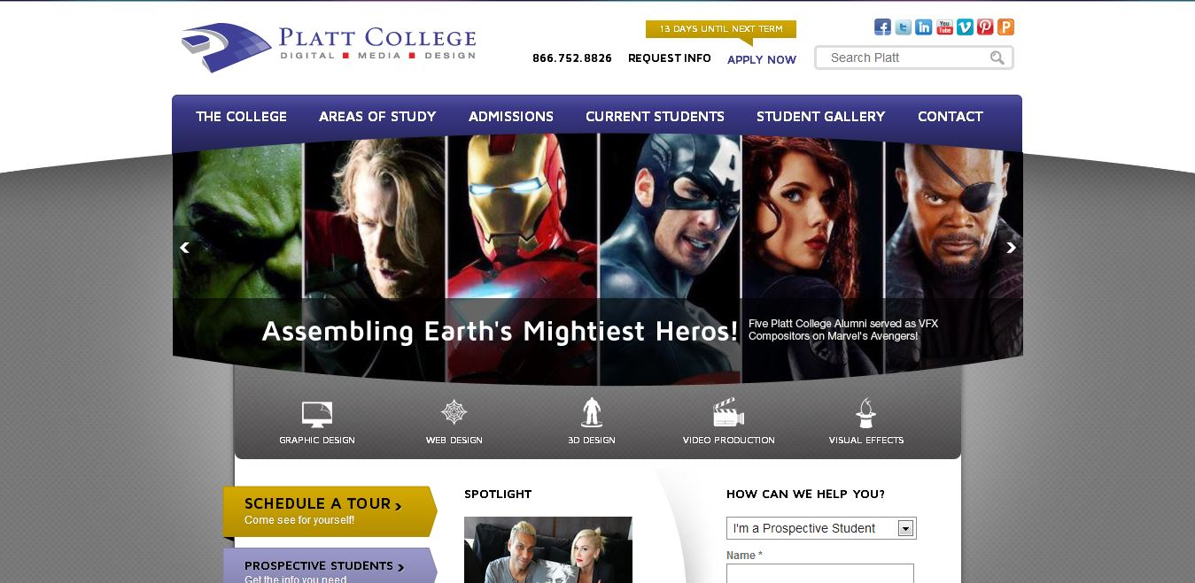 Platt College Unveils New & Improved Website