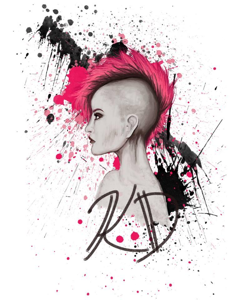 Punk Rock Digital Painting