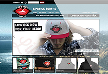 Lipstick Surf Co. Website