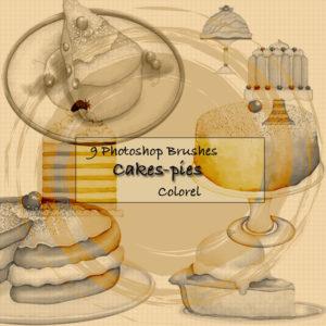 9 Cake & Pie Themed Photoshop Brushes