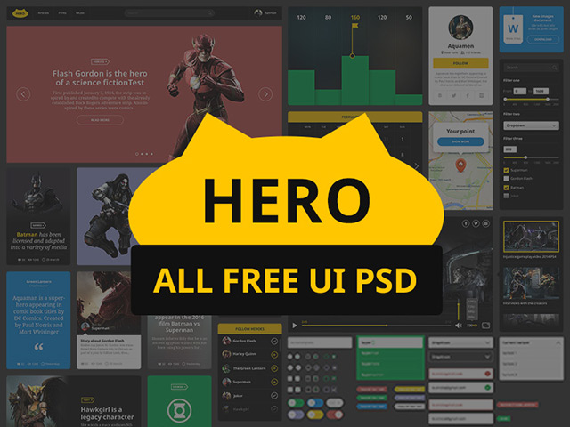 Hero - Free UI Kit